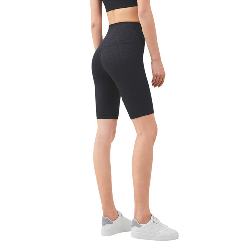 Leoparol Solid High Waist Yoga Shorts TQE87037-96