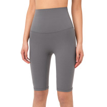 Titanium Solid High Waist Yoga Shorts TQE87037-90