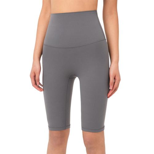 Titanium Solid High Waist Yoga Shorts TQE87037-90