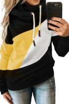 Black Accent Colorblock Hoodie LC2533351-2