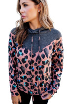 Gray Animal Spotted Pullover Hoodie LC2532644-11