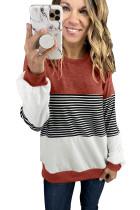 Colorblock Stripes Patchwork Sweatshirt LC2534337-3