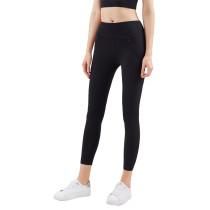 Black Zipper Pocket Slim Fit Yoga Pants TQE57048-2