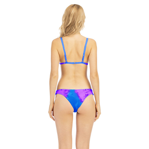 Purplish Red Tie Dye Discoloration Bikini Set TQK610176-32