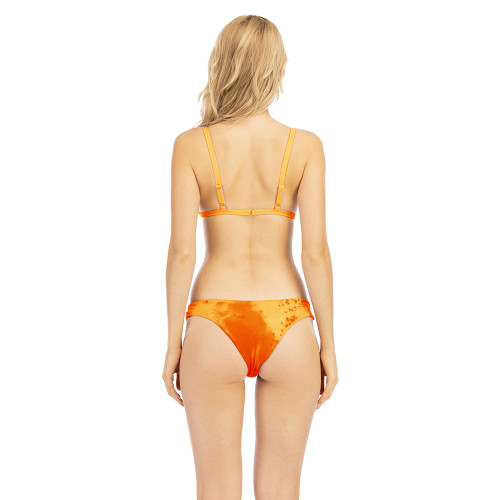 Orange Tie Dye Discoloration Bikini Set TQK610176-14