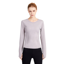 Auroral Violet Mesh Quick Drying Long Sleeve Sports Top TQE19070-102