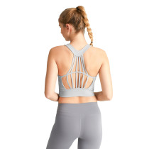 Silver Drop Hollow Out Open Back Sports Yoga vest TQE19069-83