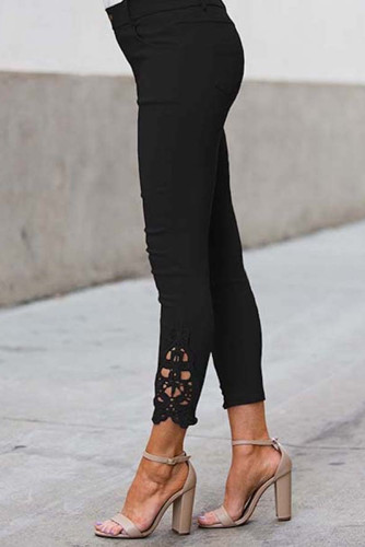 Black Crochet Leggings LC76056-2