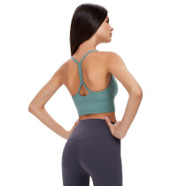 Moss Green Back Butterfly Shape Fitness Yoga Bra TQE19086-203