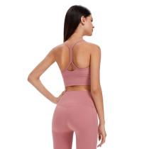 Quicksand Powder Back Butterfly Shape Fitness Yoga Bra TQE19086-119