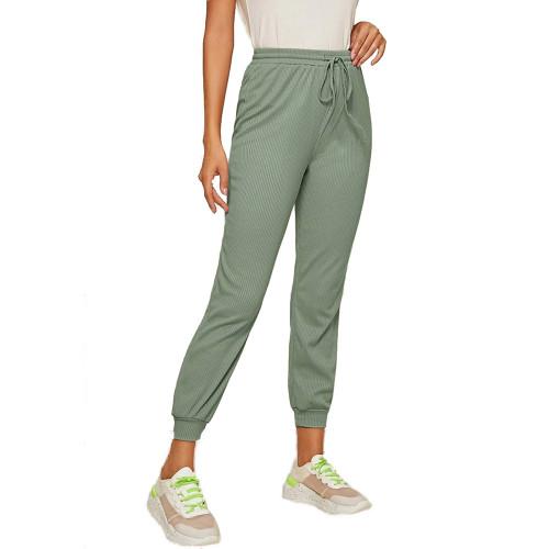 Mignonette Ribbed Drawstring Jogging Pant TQK520073-50