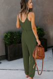 Green Pocketed Knit Jumpsuit LC641368-9