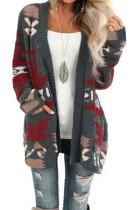Gray Moraga Pocketed Aztec Cardigan LC270165-11
