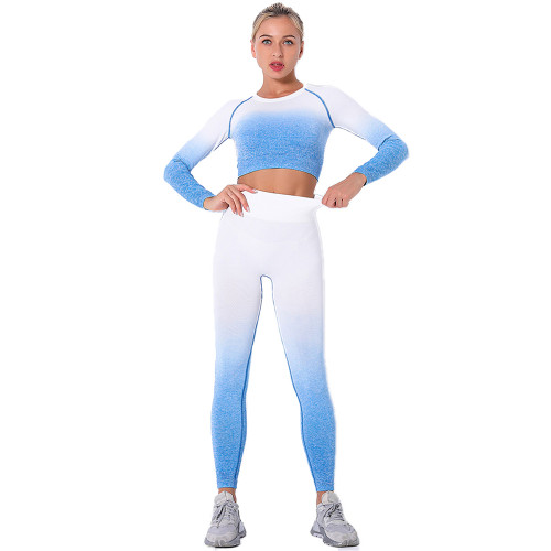 Blue Gradient Long Sleeve Sports Set TQE00131-5