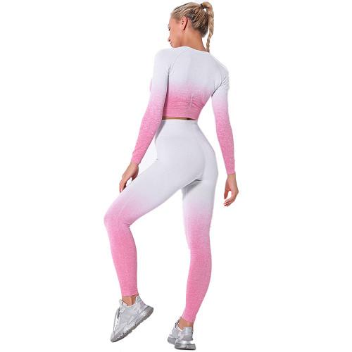 Pink Gradient Long Sleeve Sports Set TQE00131-10