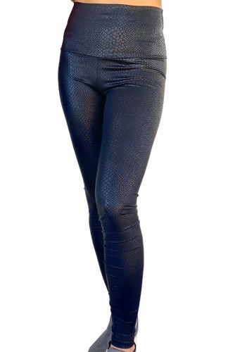 Shiny Leopard Textured Leggings LC76009-102