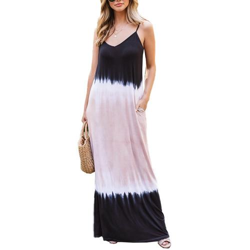 Khaki Ombre Sling Maxi Dress TQK310482-21