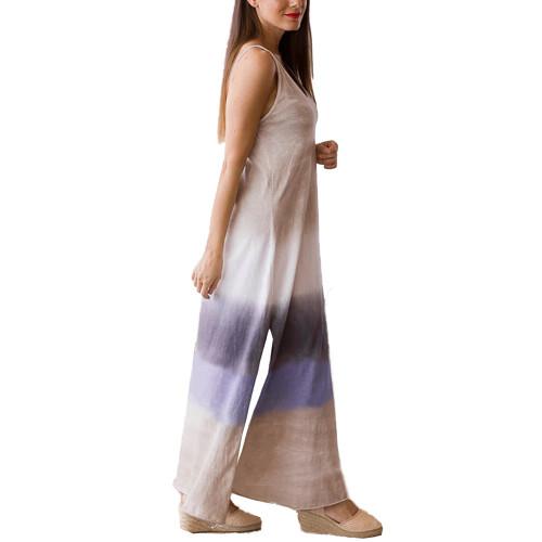 Khaki Ombre Sides Slit Sling Maxi Dress TQK310484-21