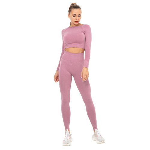 Cameo Seamless Long Sleeve Yoga Sports Set TQE00135-47