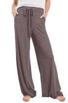 Brown Drawstring Lounge Pants LC77343-17