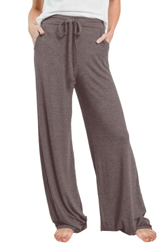 Brown Drawstring Lounge Pants LC77343-17