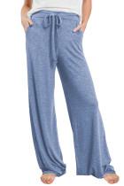 Blue Drawstring Lounge Pants LC77343-4