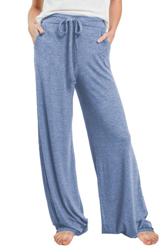 Blue Drawstring Lounge Pants LC77343-4