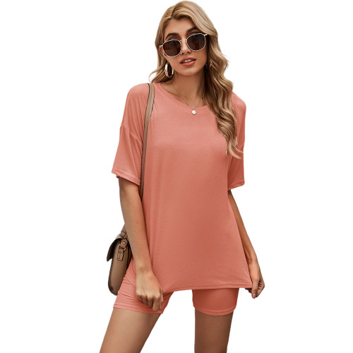 Cameo Solid Loungewear Short Sleeve with Shorts Set TQK710255-47