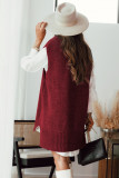 Red Knit Vest Pullover Sweater LC272963-3