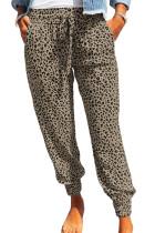 Khaki Breezy Leopard Joggers LC77171-16