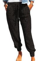 Black Breezy Leopard Joggers LC77171-2