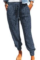 Blue Breezy Leopard Joggers LC77171-5