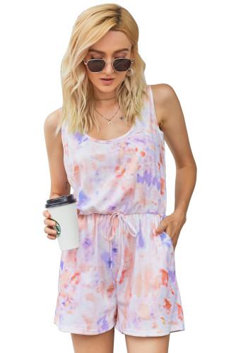 Lavender Peach Tie Dye Romper LC64782-22