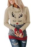 Christmas Print Hoodie with Thumb Hole LC2532894-15