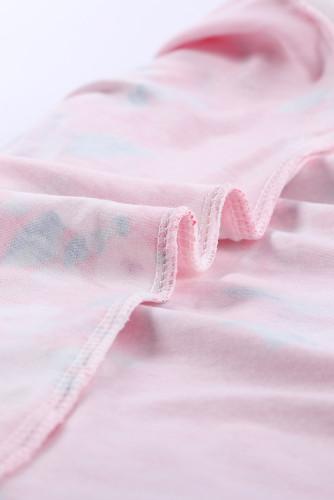 Red Spring Fling Floral Striped Sleeve Short Dress for Kids TZ22022-3