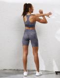 Gray Digital Print Removable Padded Tank Yoga Bra TQE10104-11