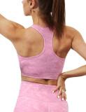 Rosy Digital Print Removable Padded Tank Yoga Bra TQE10104-6