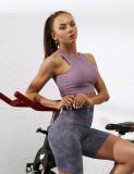 Pink Taupe Simple Design Padded Comfort Yoga Bra TQE10106-87