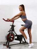 Gray Digital Print Breathable 1/2 Length Yoga Shorts TQE10103-11