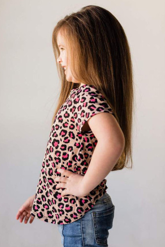 Rose Leopard Little Girls' Tee TZ25245-6