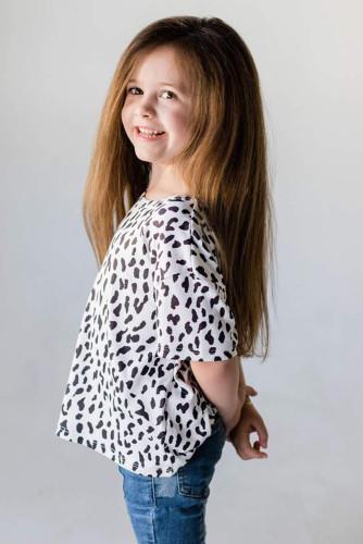 White Leopard Little Girls' Tee TZ25245-1