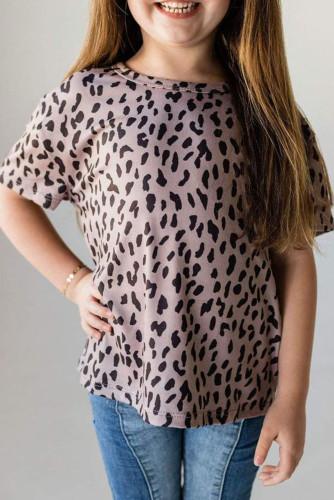 Black Leopard Little Girls' Tee TZ25245-2