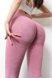 Pink Seamless Gym Fitness Tummy Control Leggings LC263777-10