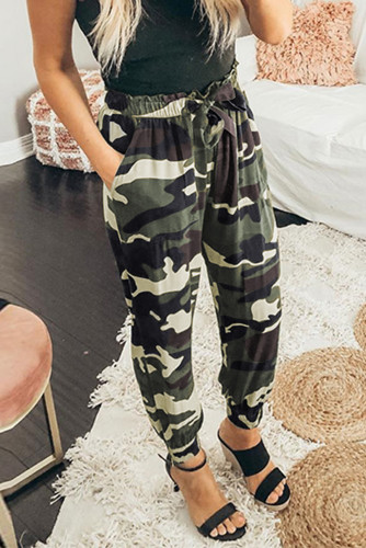 Camouflage Drawstring Elastic Waist Jogger Pants With Pockets LC771617-9