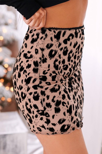 Leopard Bodycon Mini Skirt LC65412-2