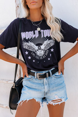 Blue WORLD TOUR Eagle Graphic Tee LC2524480-5