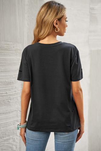 Gray MOMSTER Print Distressed Tee LC2522481-2011