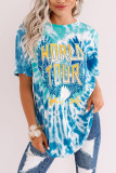 Blue WORLD TOUR Tie-dye Print Tee LC2524510-4
