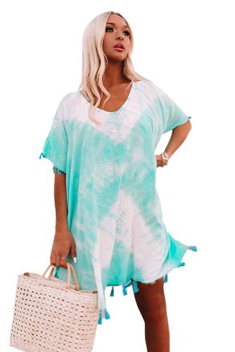 Aqua Seaside Starlet Tie-dye Tunic LC42500-4