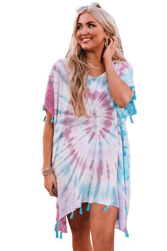 Multicolor Seaside Starlet Tie-dye Tunic LC42500-22